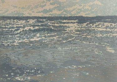 Vloed (High Tide)   linocut   20x30cm   2019