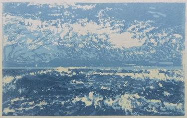 Noordzee (North Sea)   linocut   10x15cm   2020
