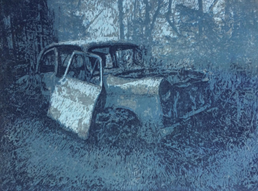 Beauty of Decay (cold) | woodcut | 30x40cm | 2019 ©