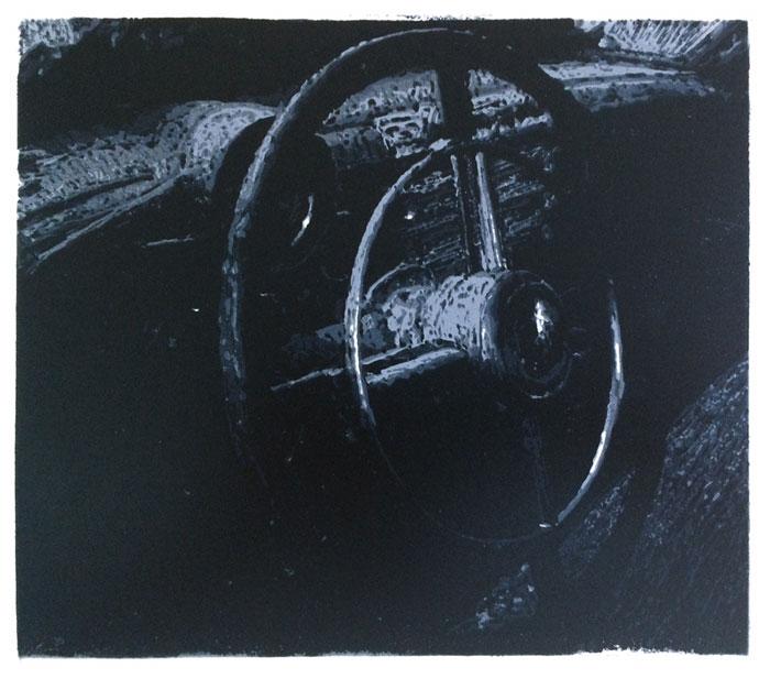 Driver's Seat   linocut   20x30cm   2020 ©