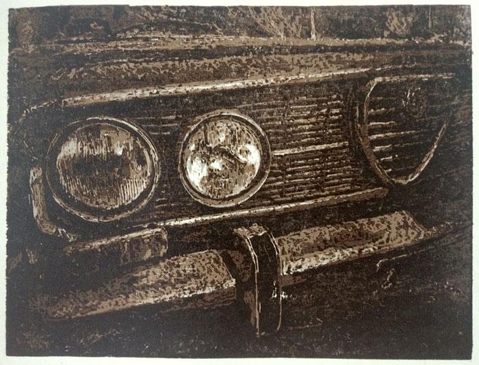 Alfa Giulia   linocut   20x30cm   2020 ©