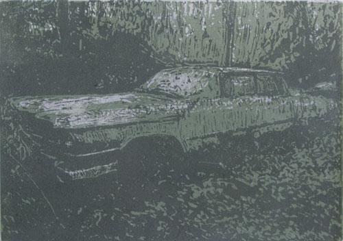 Cadillac   linocut   13x18cm   2020 ©
