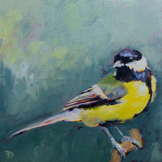 Great Tit | oil painting | 15x15cm | 2021 (sold)