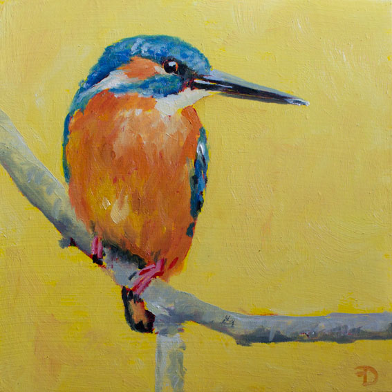 Kingfisher | oil painting | 15x15cm | 2021 (sold)