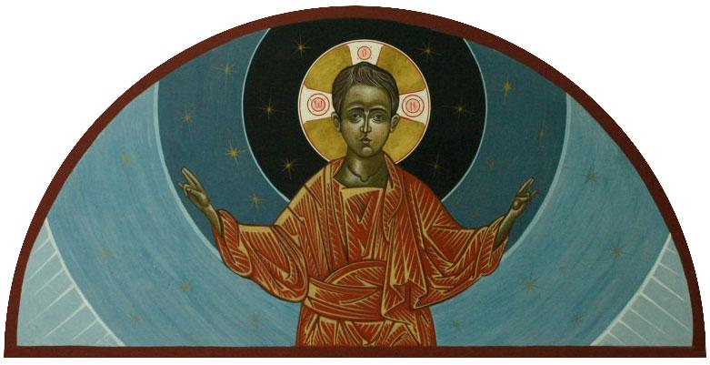 Christ Emmanuel   egg tempera/goldleaf   25x40cm   2012 (sold)