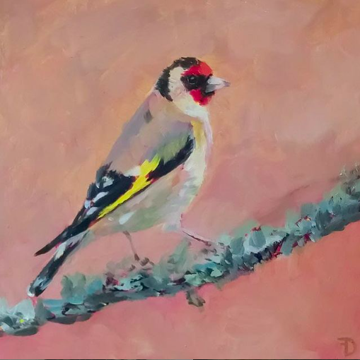 Goldfinch | oil painting | 15x15cm | 2021