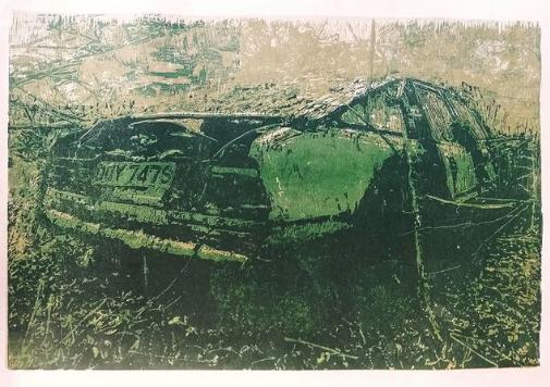 Wild Rover | woodcut | 40x60cm | 2020